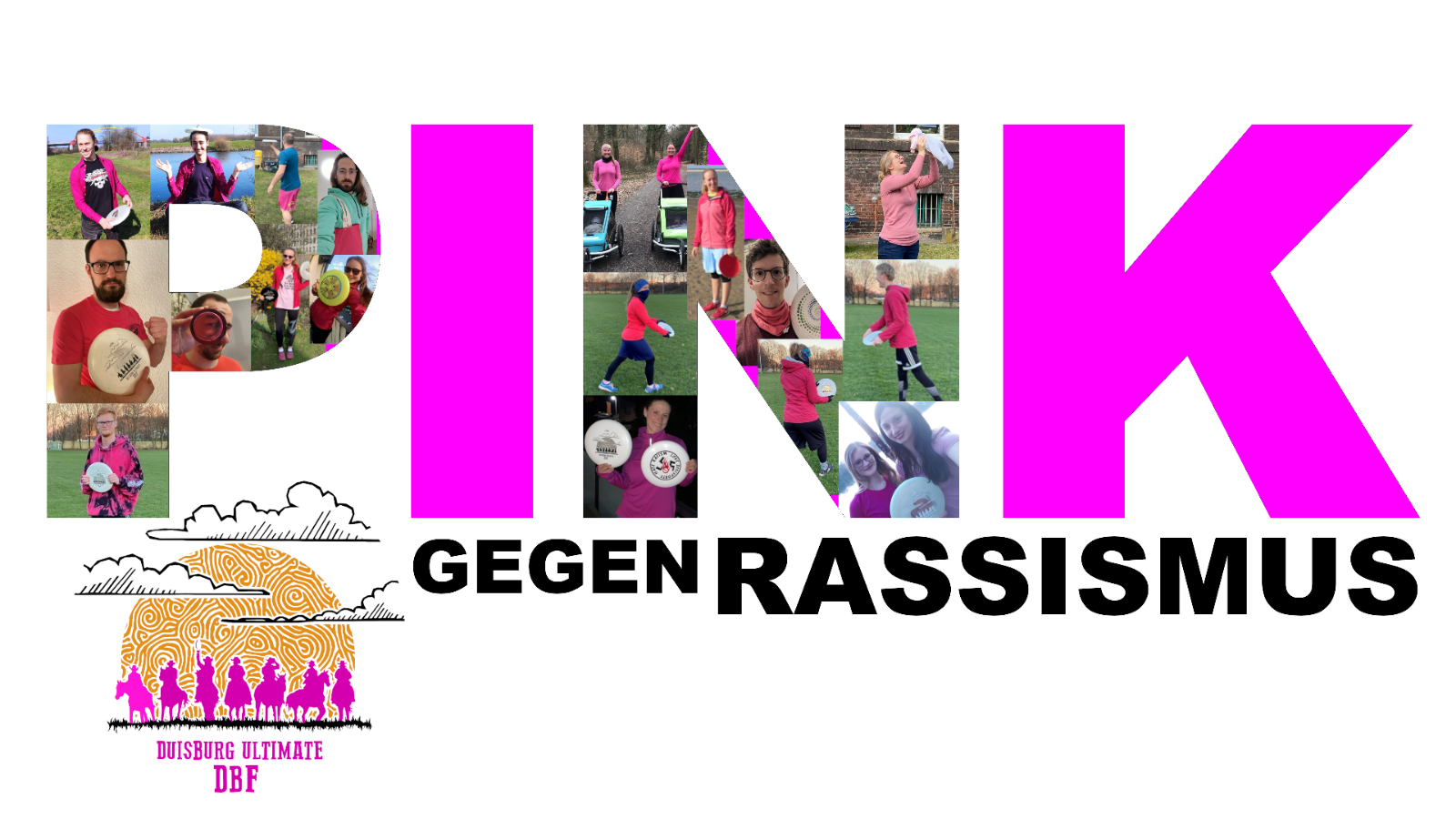 Ultimate Frisbee Pink gegen Rassismus